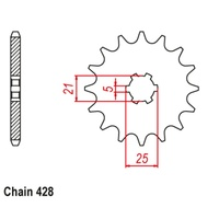 Sprocket Front Std 12T for 428# Chain