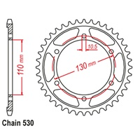 Sprocket Rear Std 45T for 530# Chain